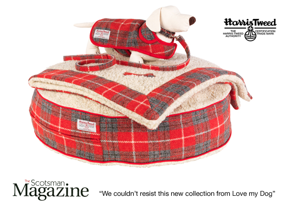 The new Red Tartan Harris Tweed Collection from Love My Dog