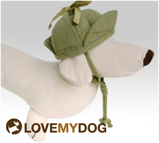 Deerstalker dog hat