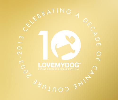 LoveMyDog celebrates a decade of design in 2013