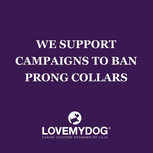 LoveMyDog supports campaigns to ban prong collars