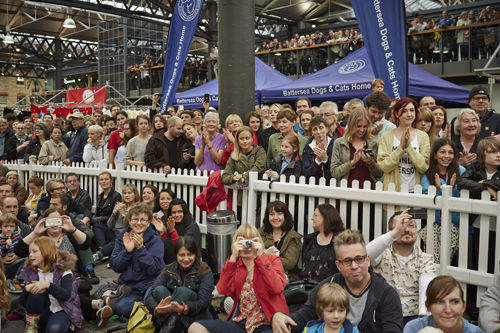 Big crowds came along to support Battersea