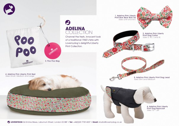 Channel the fresh, innocent look of a 1960's country fete when your dog wears genuine Liberty Print Adalina Collection.