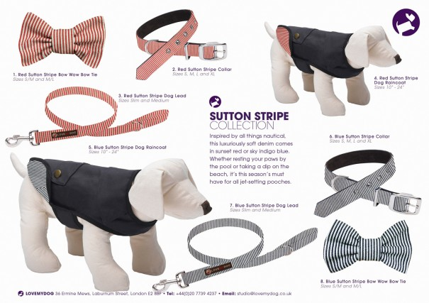 LoveMyDog Sutton Stripe Collection