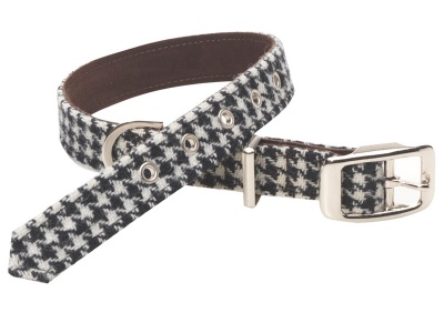 Perfect for dashing merrily about town, this chic Ellesmere collection in monochrome tweed was inspired by starlet dogs photographed in Vogue magazine.