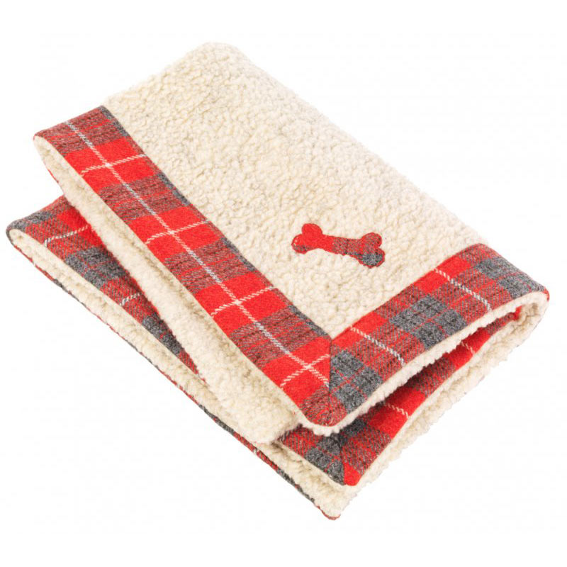 The Hoxton Tartan Harris Tweed Dog Blanket is made with thick, warm Sherpa fleece, which is so cosy and hardwearing. Dogs love snuggling into it or simply lying on it. If your dog's blanket needs a clean just pop it in the machine on a delicate wool wash, and it comes up looking like new.