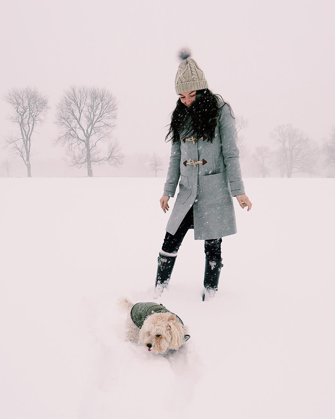 Carly recently took some time out from running The College Prepster blog so she could enjoy some serious snow time with Teddy following the recent blizzard in NYC.