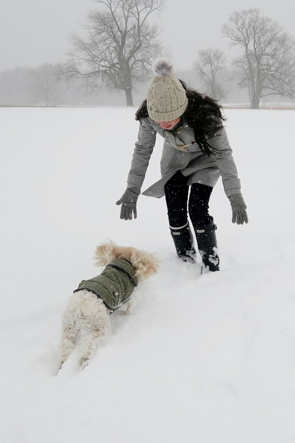 Carly recently took some time out from running The College Prepster blog so she could enjoy some serious snow time with Teddy following the recent blizzard in NYC